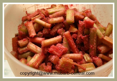 Make a Rhubarb Cake with Strawberry Jello / Gelatin
