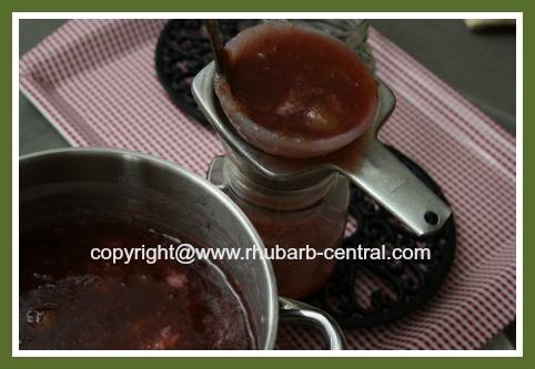 Making Canned Rhubarb Jam