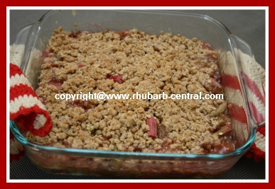 Microwave Rhubarb Crisp