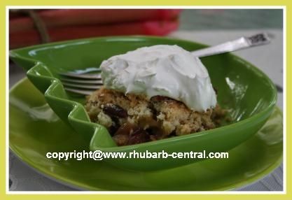 Pineapple Rhubarb Dessert Recipe using Cake Mix
