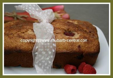 Raspberry Rhubarb Bread Loaf Quickbread