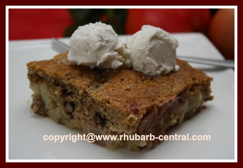 Recipe for Rhubarb Cobbler Healthy Dessert