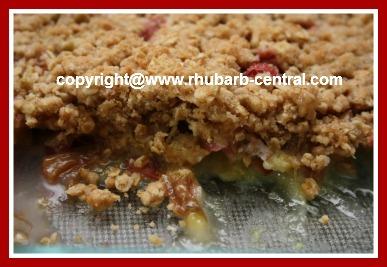 Recipe for Rhubarb Crisp Microwave / Rhubarb Crumble