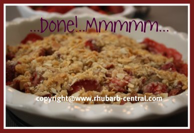 Recipe for Strawberry Rhubarb Crumble