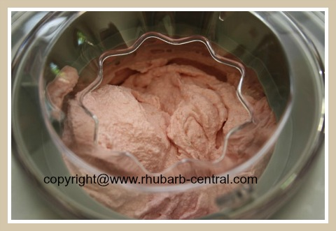 Recipe Rhubarb Raspberry Ice Cream Made