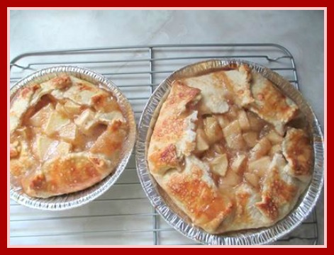 Rhubarb Apple Galette Open Faced Rhubarb Pie