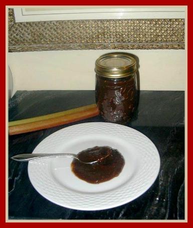 Canned Rhubarb BBQ Sauce