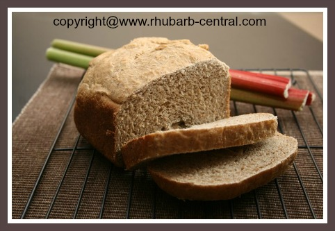 Rhubarb Bread Recipe for Bread Maker Machine