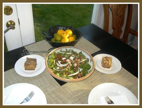 Raye's Rhubarb Salad and Cake