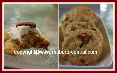 Rhubarb Cookie Rhubarb Recipe made with Fresh or Frozen Rhubarb