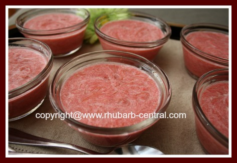 Picture of Rhubarb Cream Pudding Recipe
