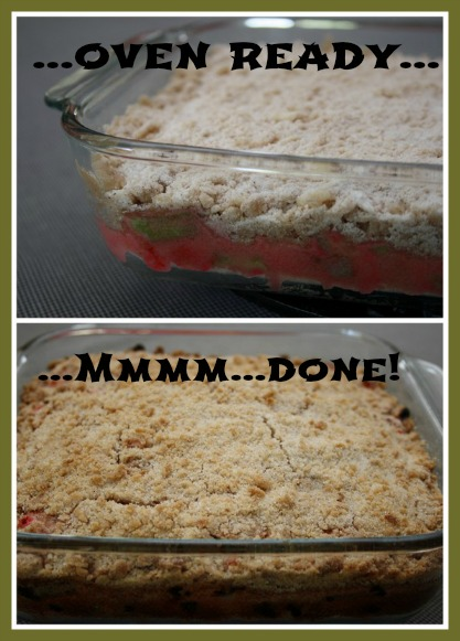 Idea for a Quick and Easy Rhubarb Dessert