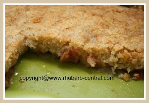 Rhubarb Dessert in 8 x 8 Dish or Ramekins Pudding Cake Recipe