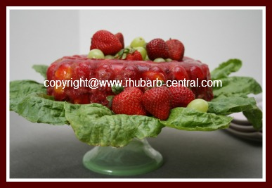 Rhubarb Fruit Salad Recipe in a Jello Mold / Ring Mold