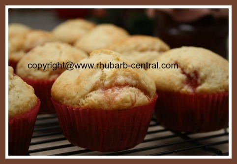 Rhubarb Jam Muffins