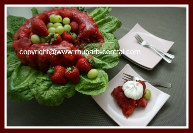 Rhubarb Jello Salad Recipe with Strawberries and Mandarin Oranges