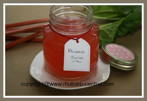 Rhubarb Juice Recipe