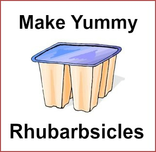 Rhubarb Popsicles Rhubarb Recipe for Kids