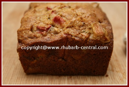 Loaf of Rhubarb Bread