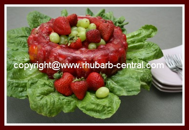 Rhubarb Salad with Gelatin/Jello and Fruit