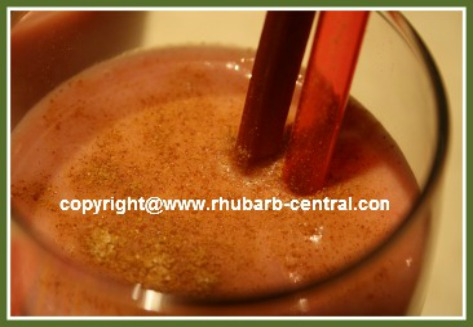 Rhubarb Smoothie with Yogurt or Soy Yogurt