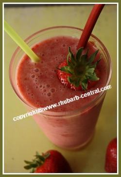 Rhubarb Strawberry Smoothie Drink Healthy Rhubarb Recipe