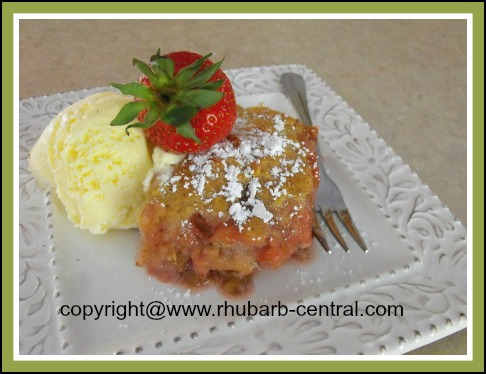 Strawberry Rhubarb Cobbler with nuts and oatmeal topping