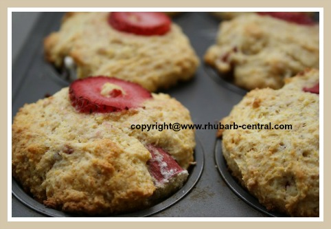 Rhubarb Strawberry Homemade Muffins Recipe