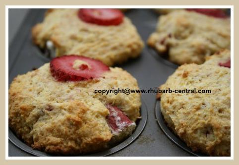 Rhubarb Strawberry Homemade Muffins Recipe