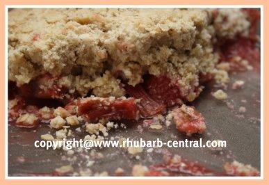 Rhubarb Strawberry Oatmeal Crumble