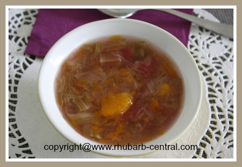 Rhubarb Tapioca Recipe Rhubarb Orange Tapioca