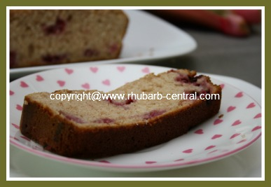 Slice of Homemade Rhubarb Raspberry Bread