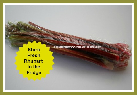 Storing /Keeping Fresh Rhubarb Stalks in the Refrigerator