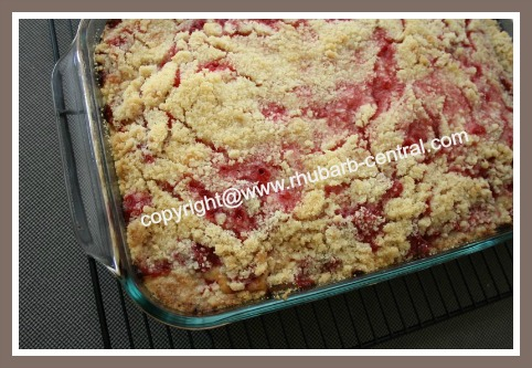 Strawberry Rhubarb Cake to Make, Rhubarb Tea Cake or Coffee Cake