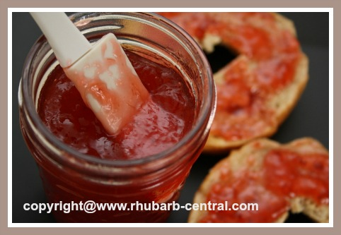 Strawberry Rhubarb Jam with Honey no Sugar
