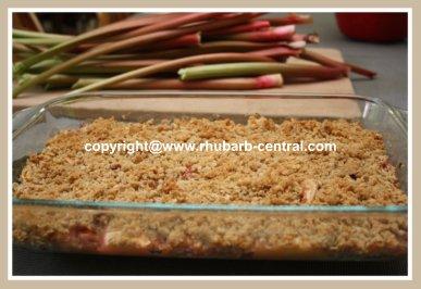Rhubarb Crumble in a 9