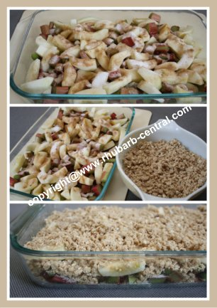 Making a Rhubarb Apple Crumble Recipe