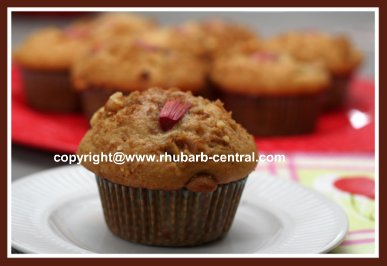 Vegetable Muffins Image - Muffins made with Apples and Rhubarb Together