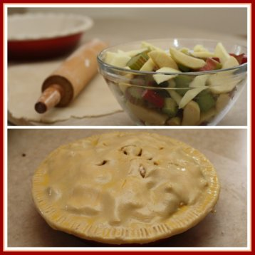 Make Apple Rhubarb Pie at Home