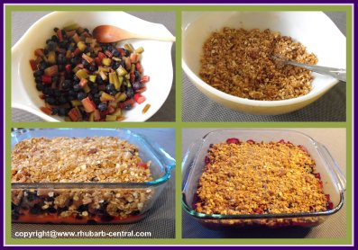 How to Make Rhubarb Blueberry Crumble Recipe