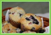 Rhubarb Blueberry Muffins for Easter Breakfast/Brunch or Lunch