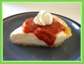 Rhubarb Sauce Recipe Topping on Cheesecake