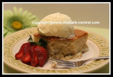 Easy Rhubarb Cake using Boxed Cake Mix and Fresh Rhubarb