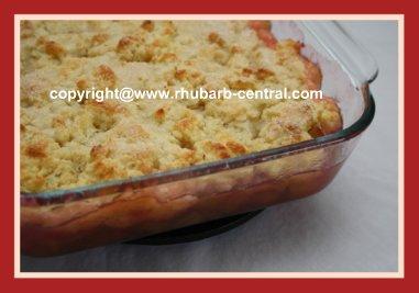 Cobbler Rhubarb Recipe with Fresh Rhubarb