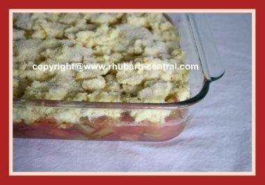 Making a Rhubarb Cobbler Dessert Recipe