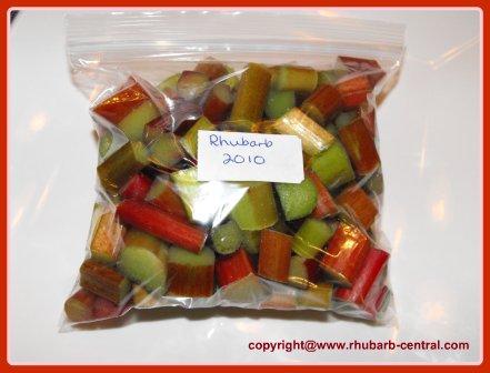 Storing Rhubarb in Freezer