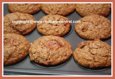 Rhubarb Muffins Wholewheat Muffin Recipe