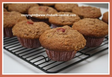 Rhubarb Muffins with Oatmeal Recipe