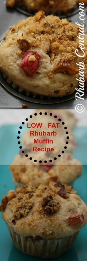 Low Fat Rhubarb Recipe Idea - Rhubarb Muffins Healthy Choice
