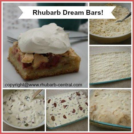 Making Rhubarb Dream Bars Recipe